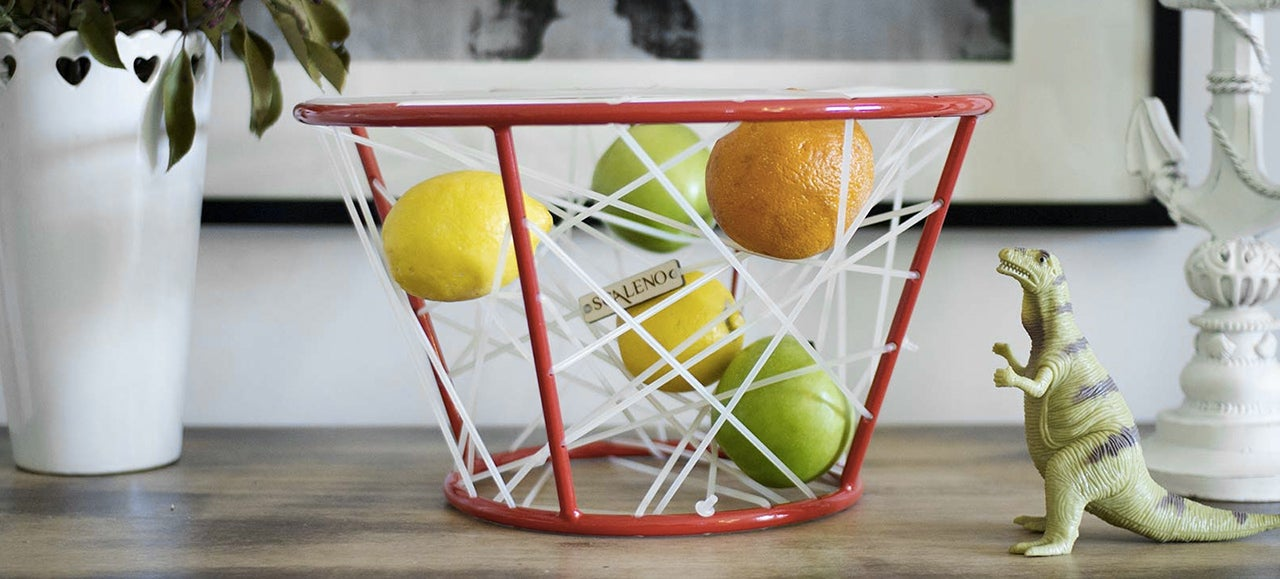 Banish Bruised Fruit By Floating It In This Webbed Elastic Bowl