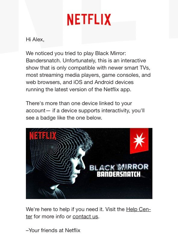 That New Black Mirror Interactive Film From Netflix Doesn't