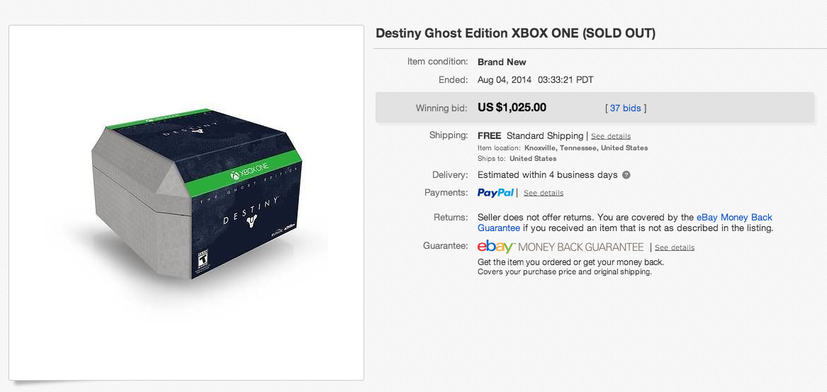 People Are Buying Destiny Special Editions For $US300+ On eBay