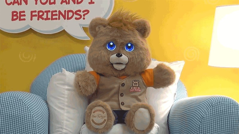Look at the New Teddy Ruxpin's Expressive LCD Eyes