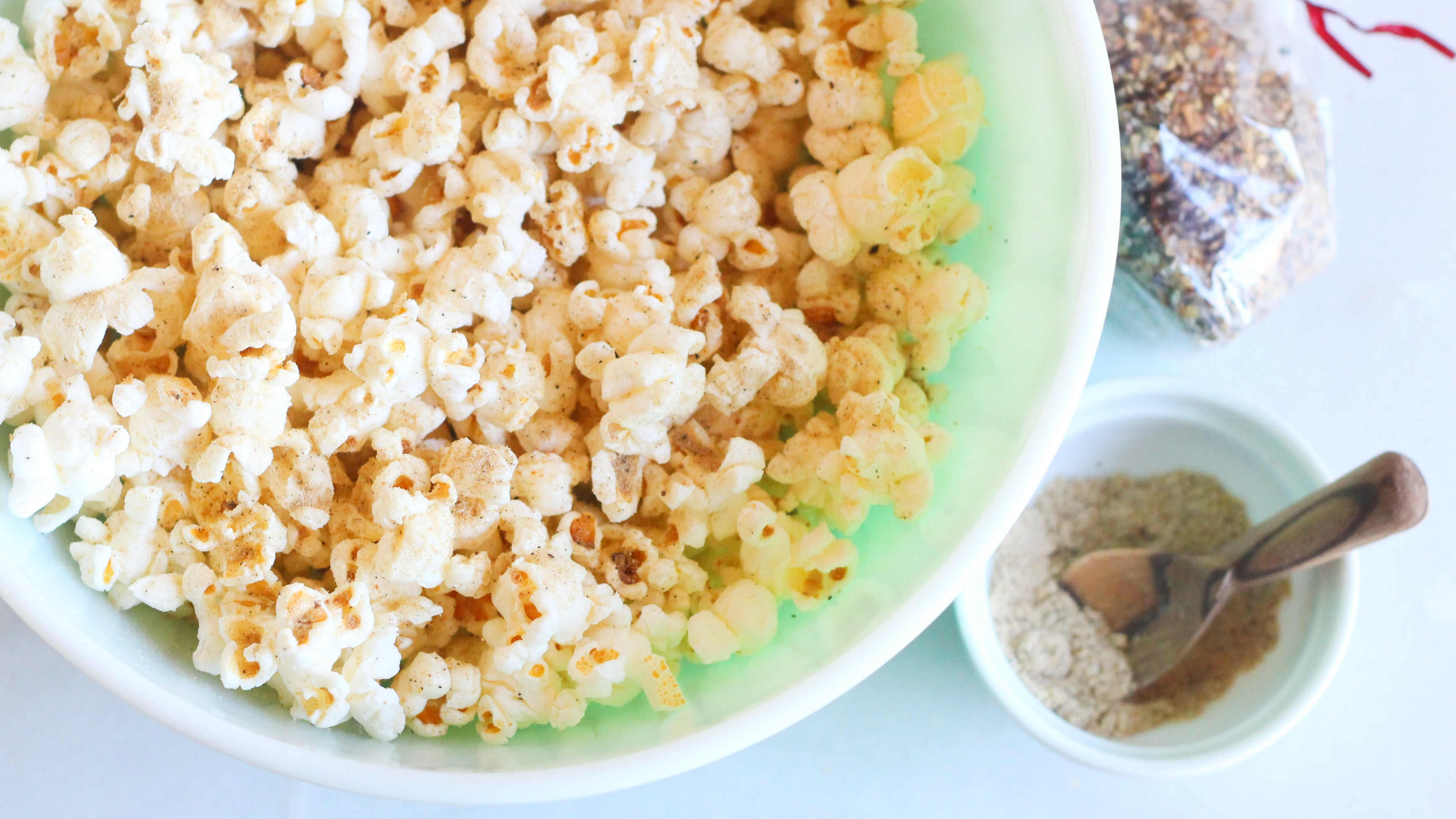 Pulverise Seasonings Before Sprinkling Them On Popcorn
