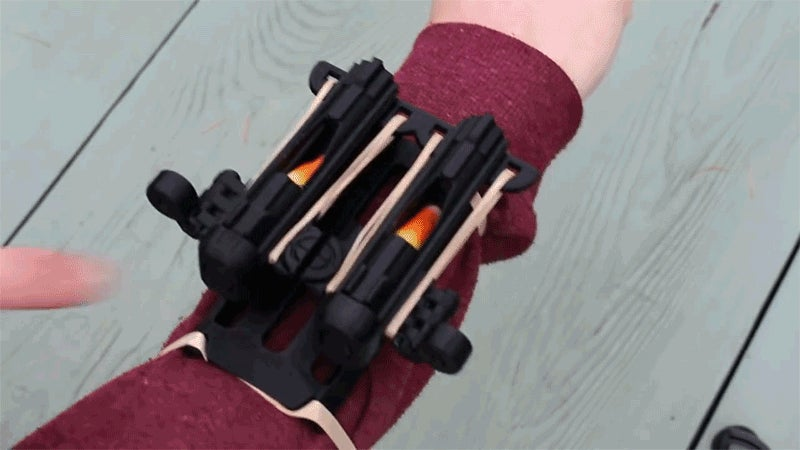 Finally, A Use For Candy Corn: Blasting It Out Of A 3D-Printed Wrist Cannon