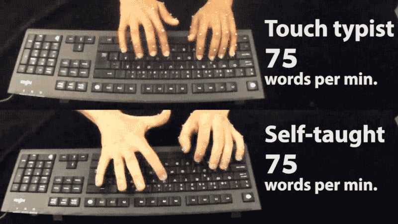 Your Stupid-Arse Typing Style Might Not Actually Be So Bad