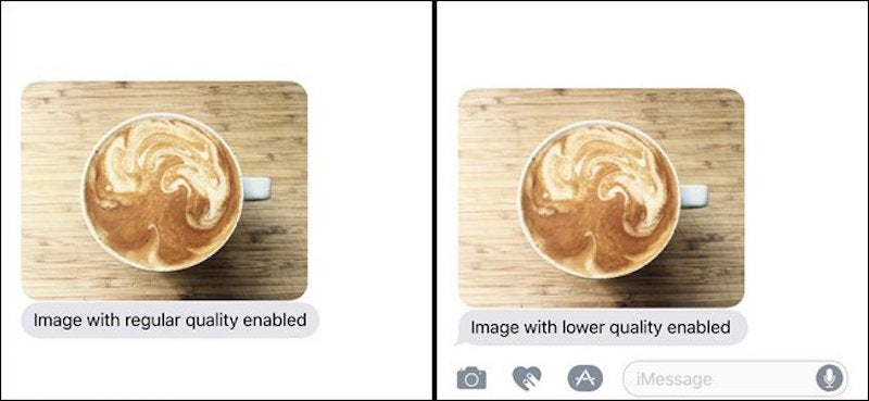 Lower Your iMessage Image Quality To Free Up Space And Bandwidth On Your iPhone