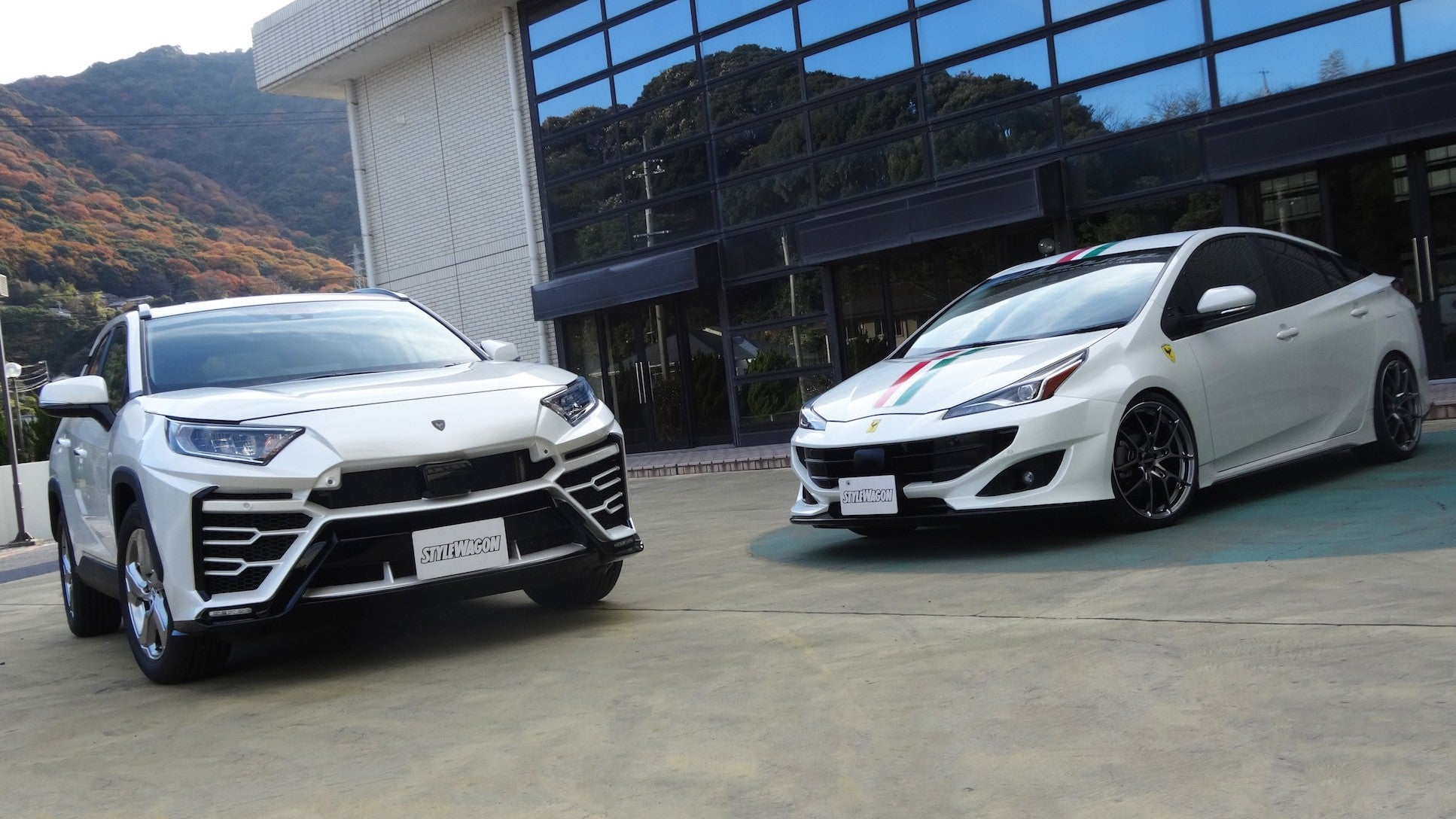 The 2020 Toyota Prius Actually Looks A Lot Better With This Fake Ferrari Bodykit