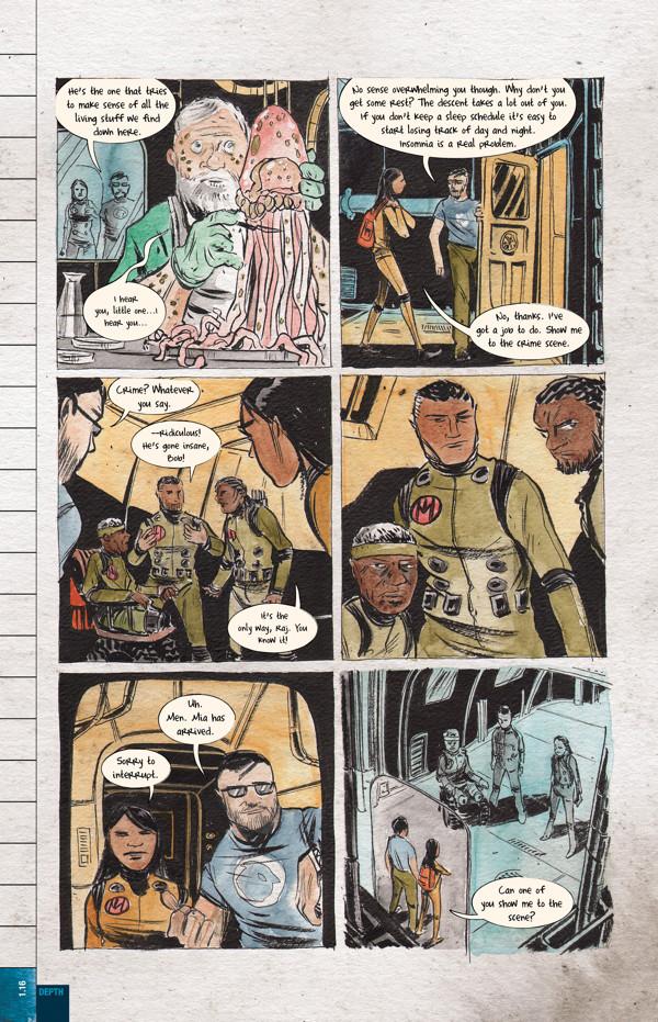 Diving Deep Into Dept. H, Matt and Sharlene Kindt's New Underwater Mystery Comic