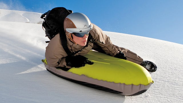 Reinforced Runners Ensure This Inflatable Sled Can Survive Icy Terrain