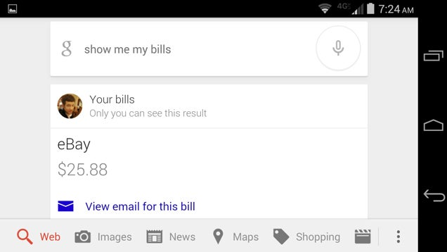 You Can Ask Google Now to Show You Upcoming Bills