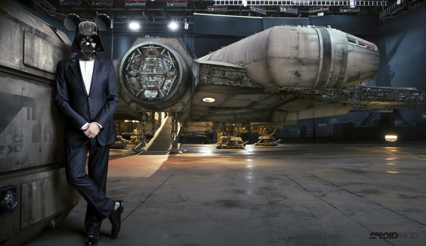 Clearest photo yet of the new Millennium Falcon — featuring Darth Iger
