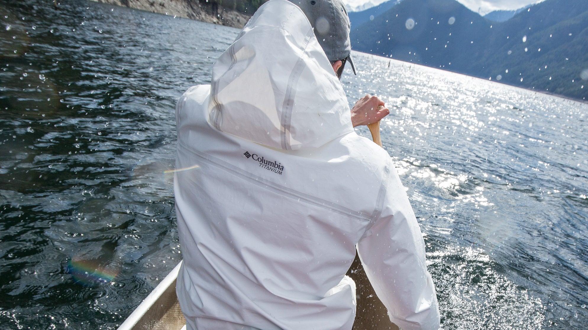 This Slick Rain Jacket Is Made Of 21 Plastic Bottles