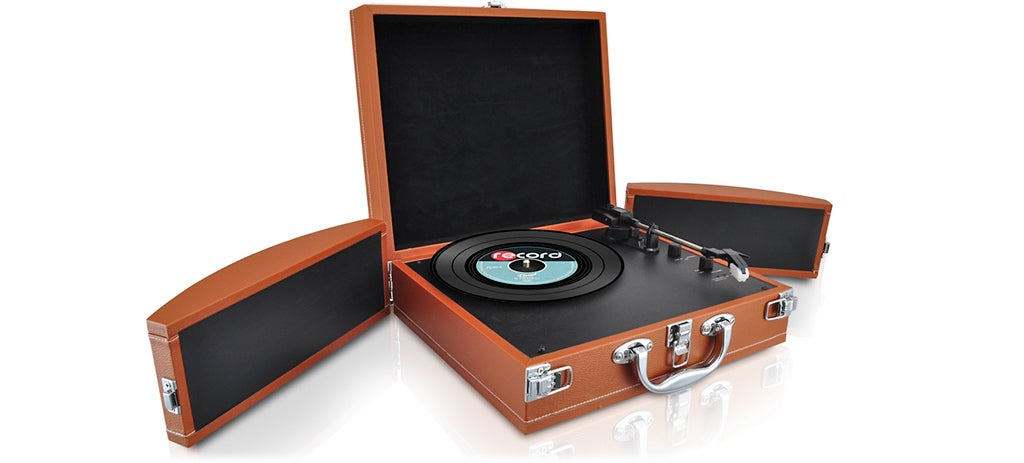 This Transforming Briefcase Turntable Is a Walkman For Your Records