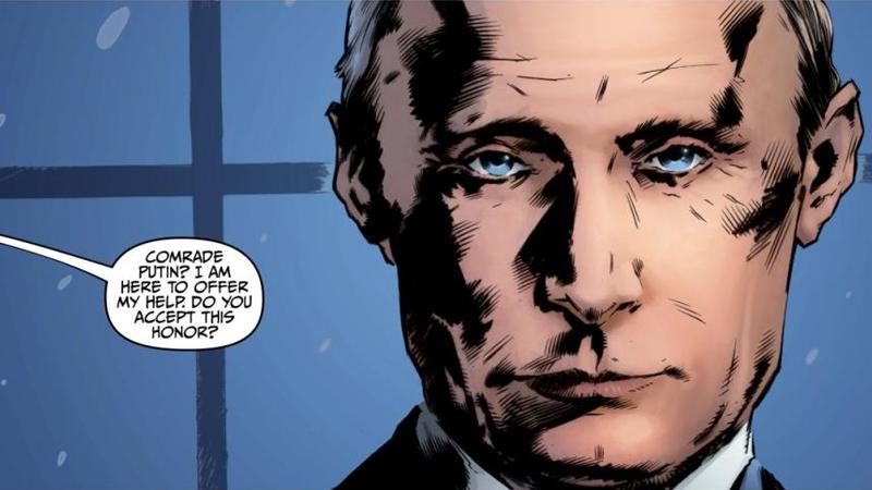 Vladimir Putin Is Literally a Comic Book Villain Now