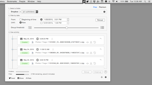Revisions for Dropbox Makes Viewing Your Dropbox History Easy on Mac
