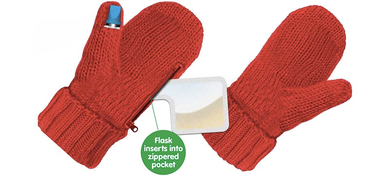 Mitten-Hidden Flasks Will Warm You Inside and Out This Winter