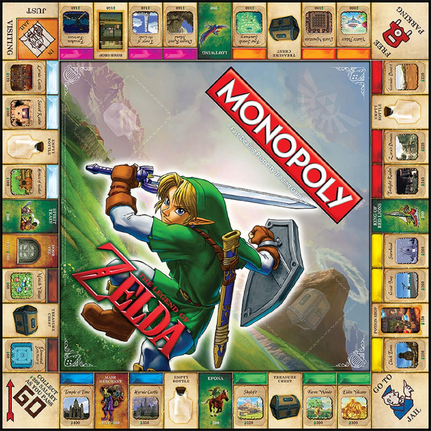 This Is The Zelda Monopoly Game Board, Out Next Month