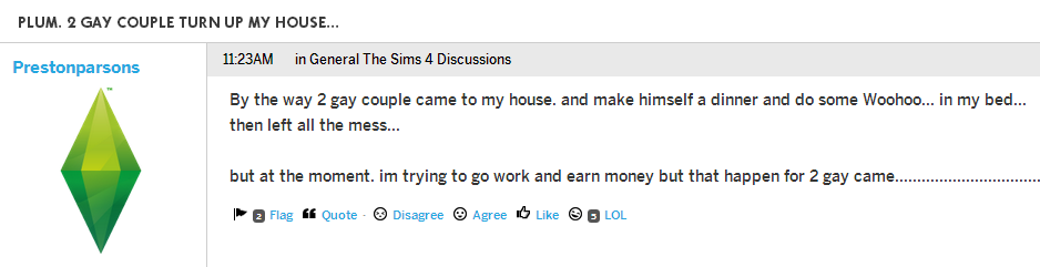 The Sims Forums Are My New Favourite Place On The Internet
