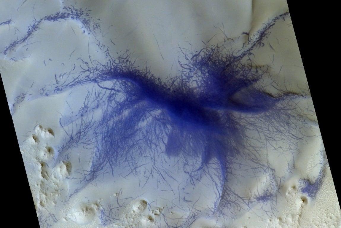 A Martian Dust Devil Swept Right Over Nasa S Insight