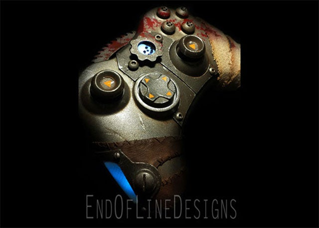 Gears Of War Controller Looks Like It Just Chainsawed Someone