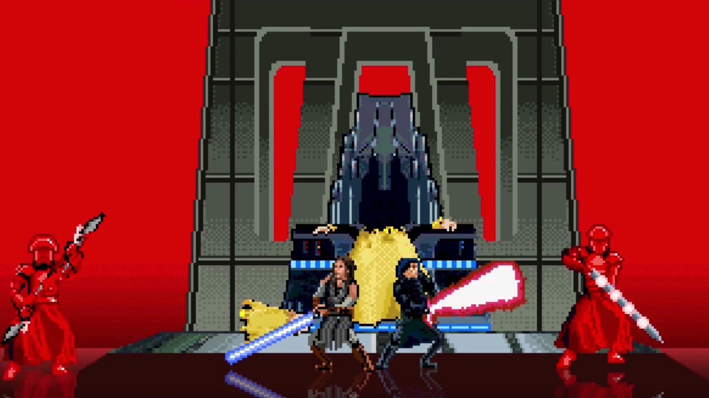 Even In 16 Bits, The Throne Room Scene From The Last Jedi Still Rules