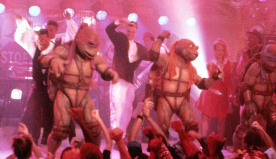 Vanilla Ice And The Original Movie Ninja Turtles Invaded The TMNT2Premiere