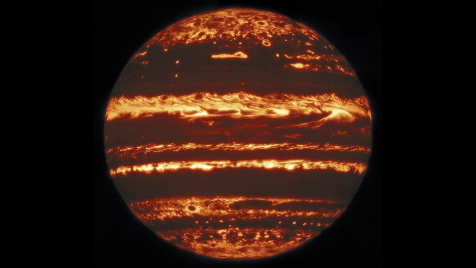 Jupiter Looks Like A Fireball In This 'Lucky' Infrared Image
