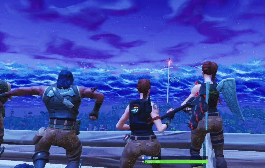 fortnite player snags kill record by wrecking crowd of rocket watchers - hunter killer fortnite