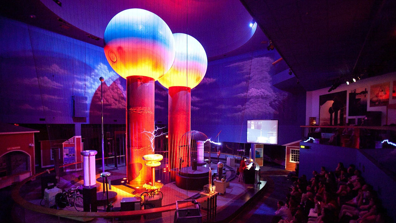 The Giant Sparking Globes that Dominate Boston's Museum of Science