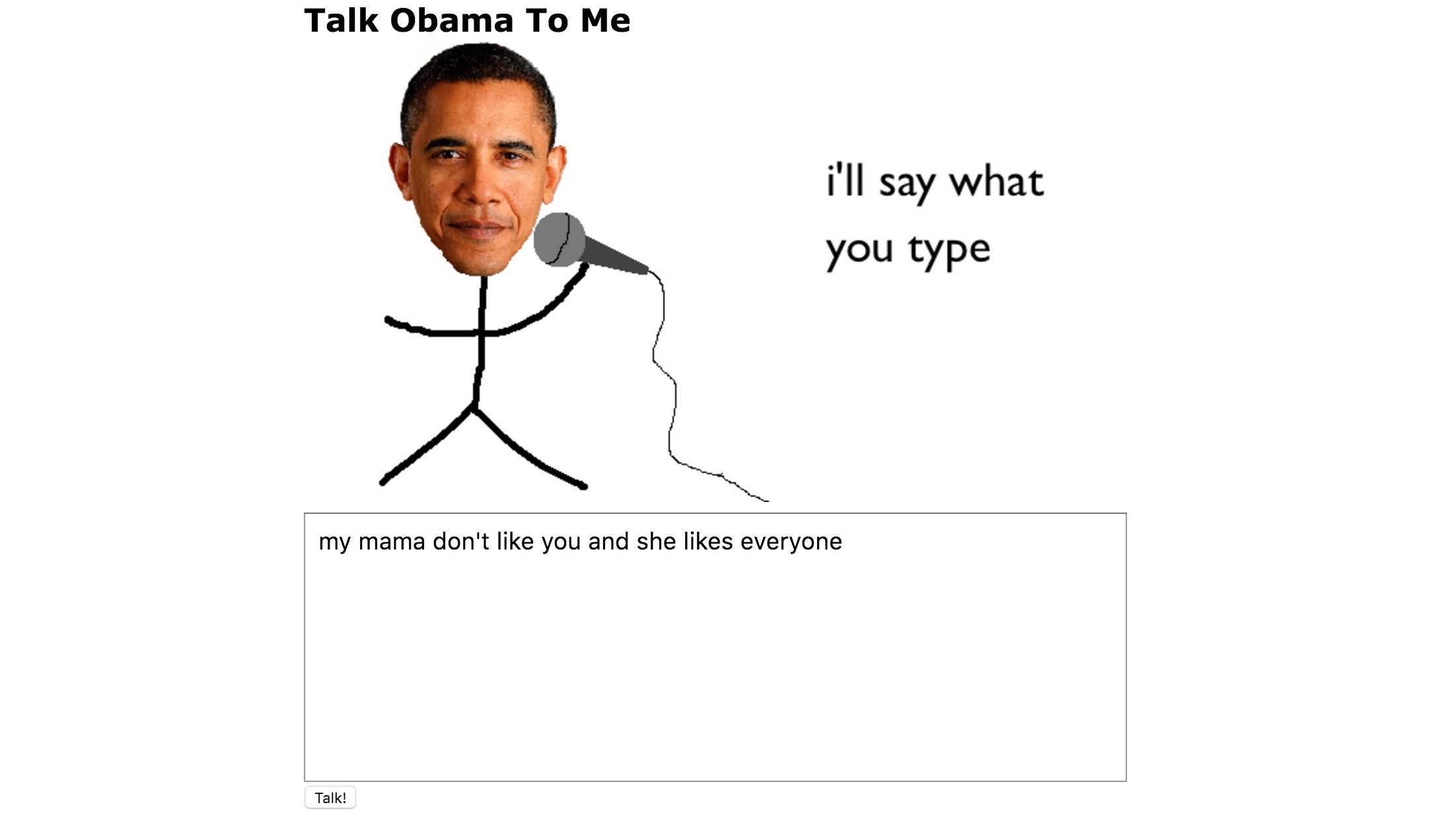 Use This Website to Make Obama Say Anything You Want