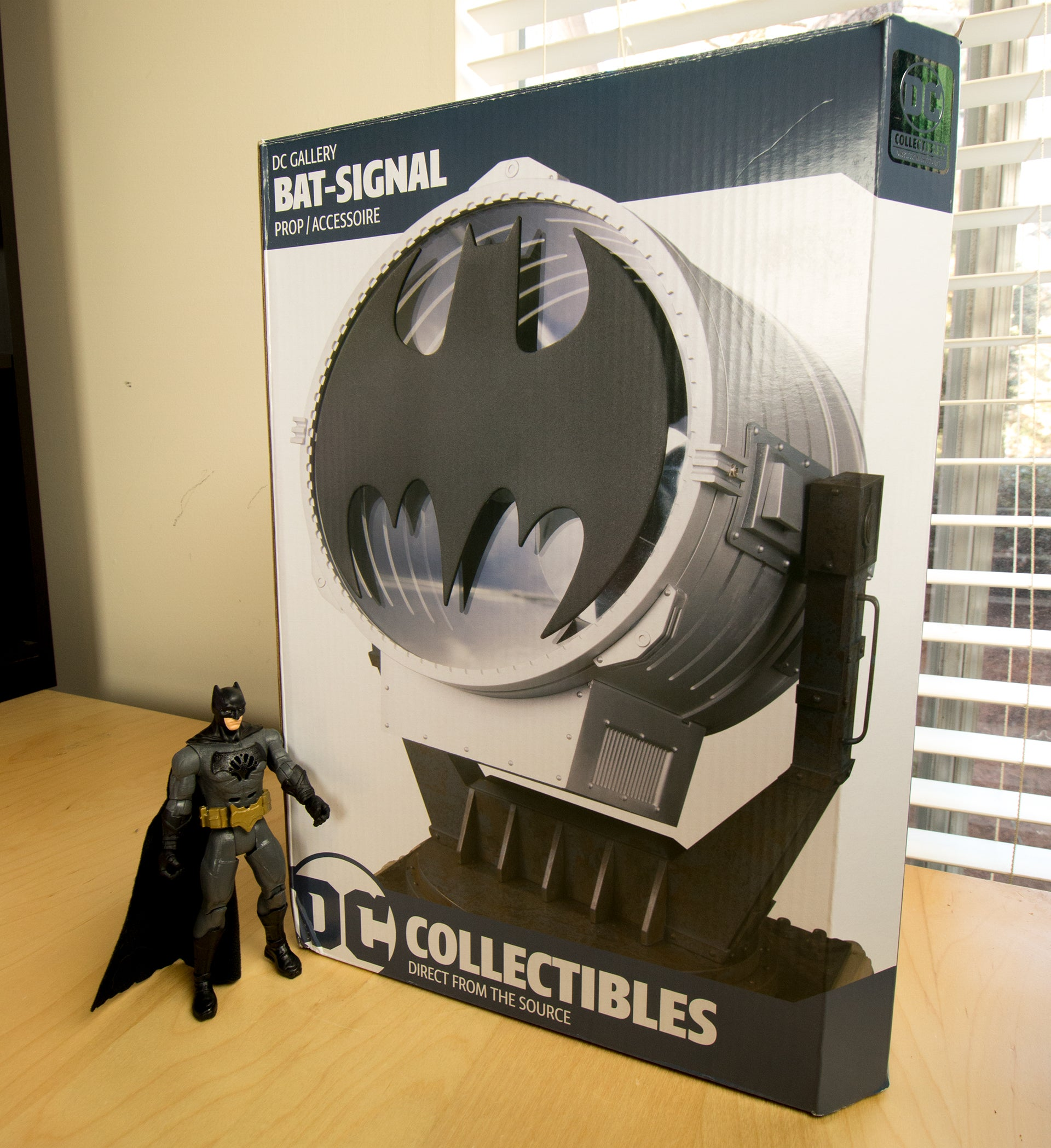 For just 300 you can own a tiny bat signal batman not included given sufficient darkness the dc gallery bat signal projects your choice of three different bat symbols from seven to ten feet buycottarizona Image collections