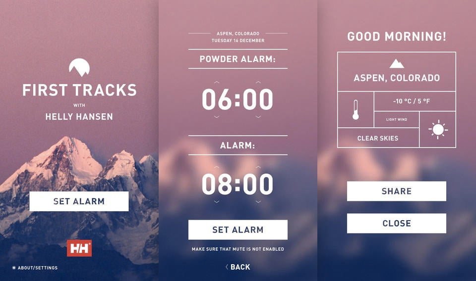 An Alarm Clock App That Wakes Skiers Earlier For Freshly Fallen Snow