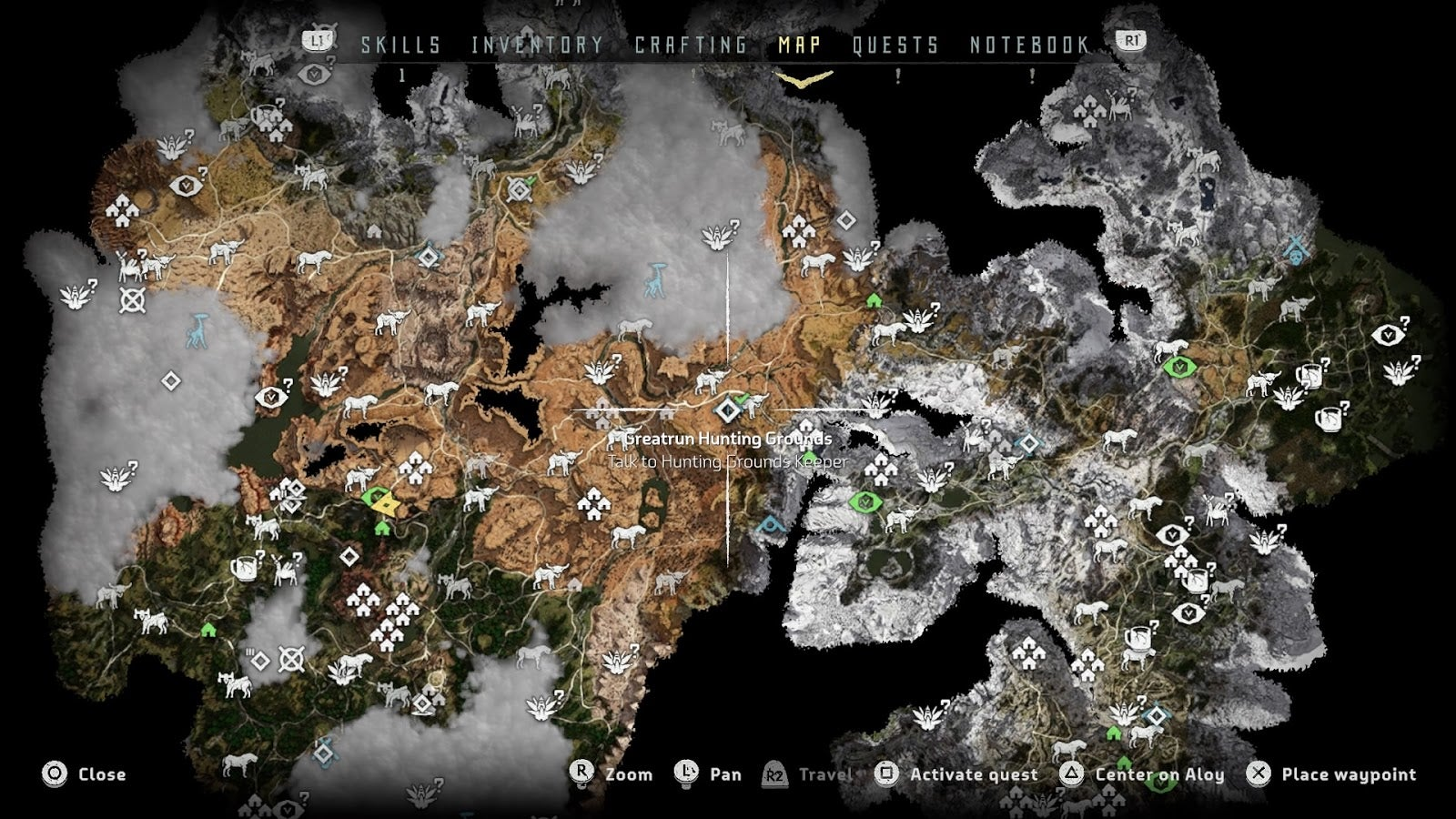 Horizon zero dawn the kotaku review kotaku australia this is what the map looks like near the end of the game its way more intense near the start of the game gumiabroncs Image collections
