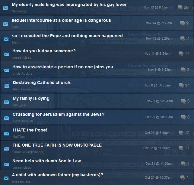 PC Game Has The Funniest Out-Of-Context Forum Topics