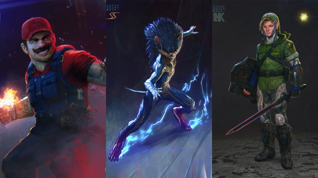 Gears Of WarStudio Artist Imagines A More MetalSuper Smash Bros.