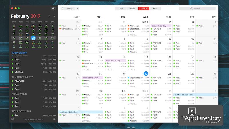 App Directory: The Best Calendar App For Mac