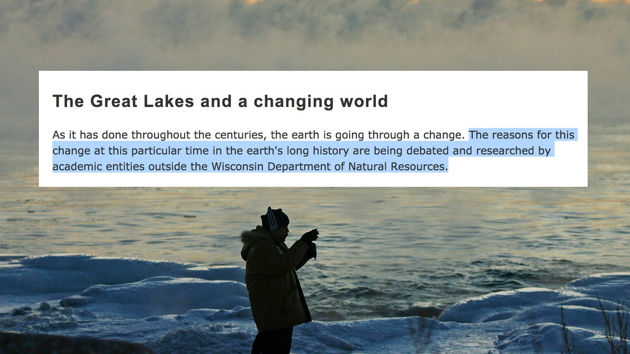 Humans No Longer Caused Climate Change, According To The US State Of Wisconsin