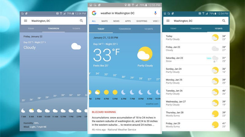 Google Adds Lots of New Weather Data to Search Results on Android