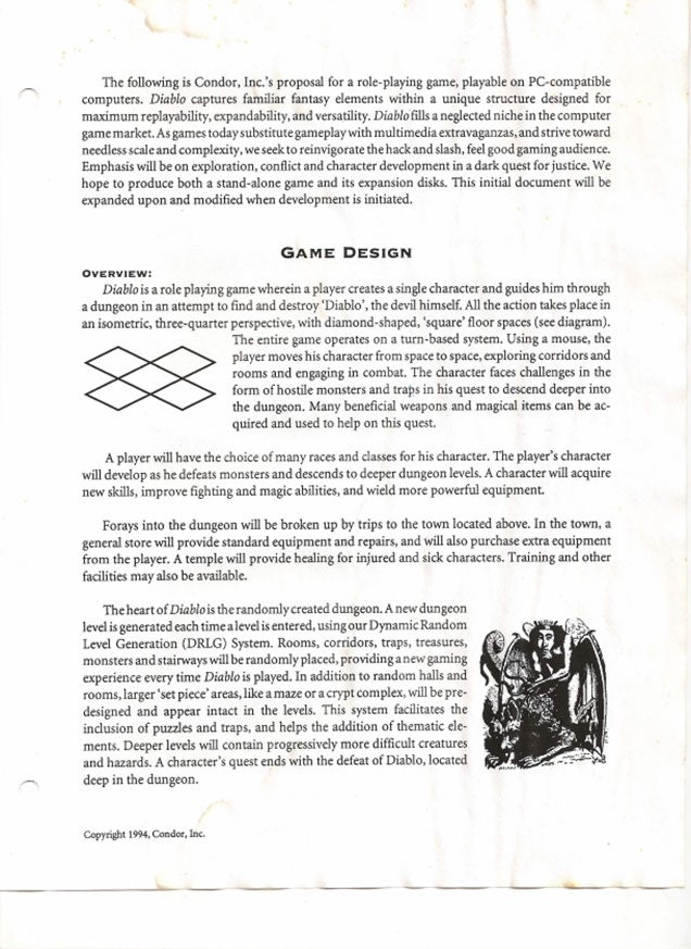 Read Diablo's Original Pitch Document