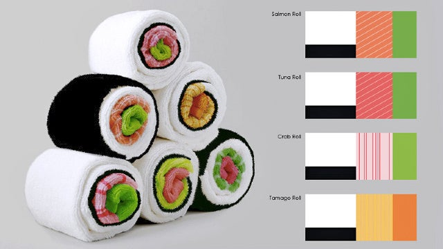 You Can Roll These Kitchen Towels Into Delicious-Looking Inedible Sushi