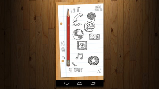 The Doodle Home Screen