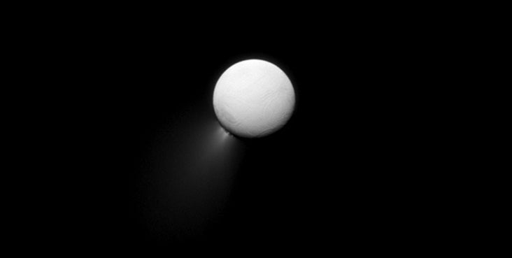 Enceladus's Ice Volcanoes Are Feeding Saturn's Rings