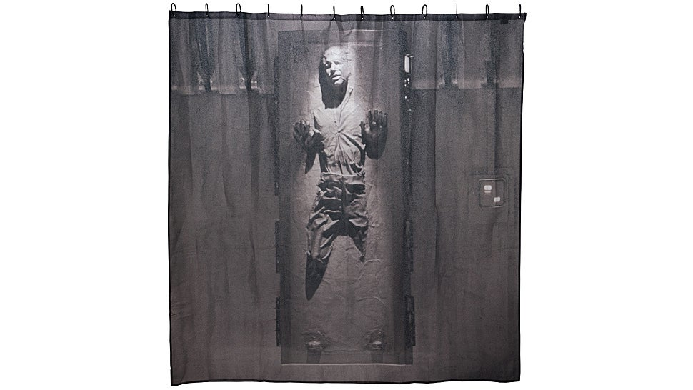 Han Solo Frozen In Carbonite Shower Curtain: Don't Worry, He Can't See
