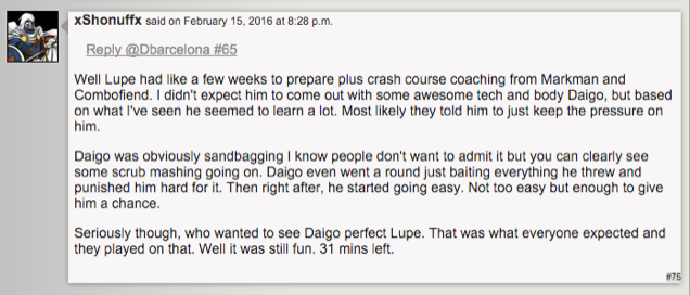 The Theory That the Lupe vs. Daigo Fight Was Staged