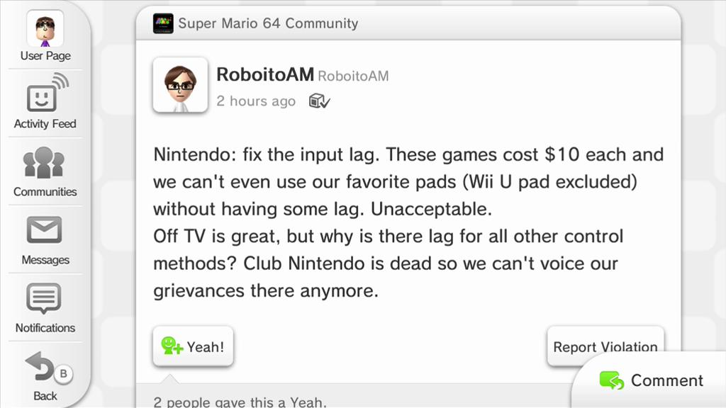 Miiverse Reacts To Super Mario 64 On Wii U