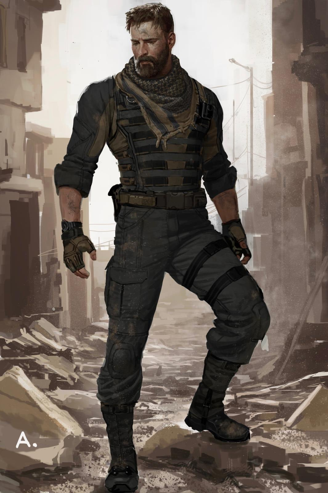 This Infinity War Concept Art Of Captain America Without