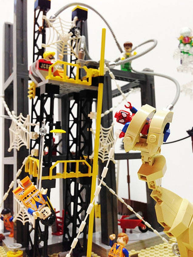 Lego spider man vs sinister six fan build is full of - Lego spiderman 3 ...