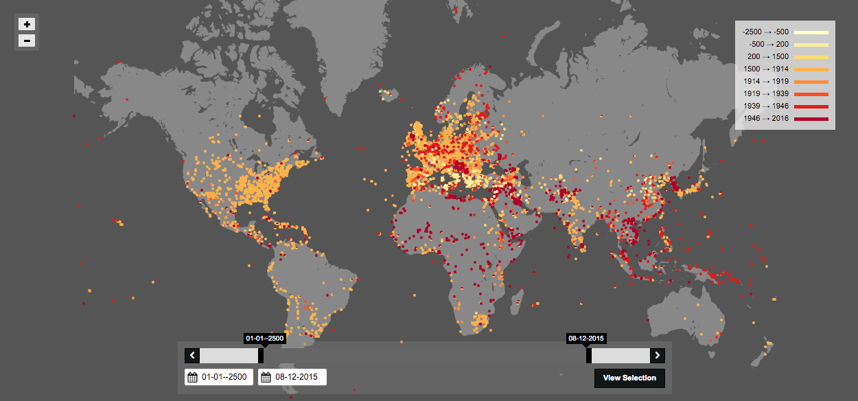 This Shocking Map of Battles Throughout History Isn't Even Close to Complete