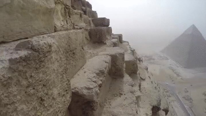 It's A Quick (And Illegal) Climb To Get To The Top Of Giza's Great Pyramid