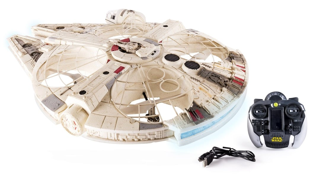 Massive Millennium Falcon Drone Has A Tiny Han Solo And Chewie In The Cockpit