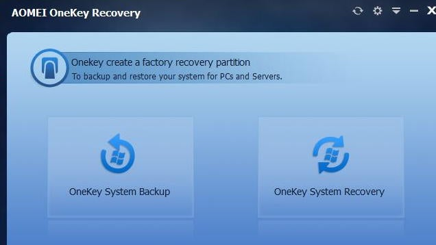 AOMEI OneKey Recovery Creates a Custom Windows Recovery Partition