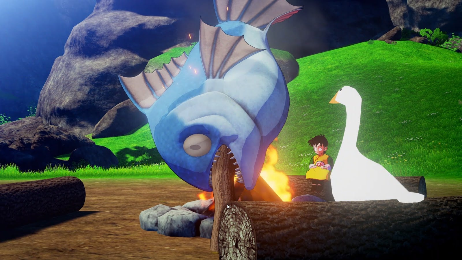 Here's Dragon Ball Z: Kakarot Starring The Goose